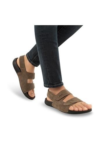 Muya Avada Anatomik Erkek Sandalet Vizon